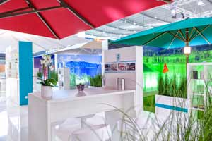 Commercial  Patio Umbrellas at the R+T Exhibit by Uhlmann
