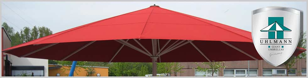 Giant Umbrellas - Large Commercial Umbrellas - Red Canopy